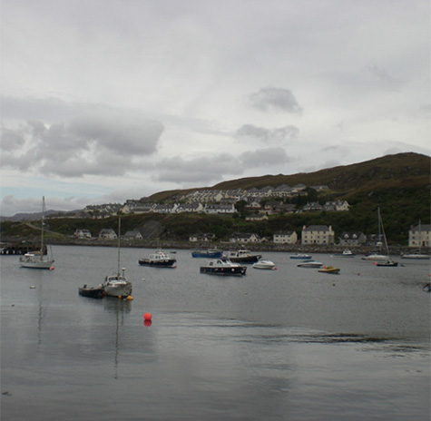 Harbour with boats Scotland