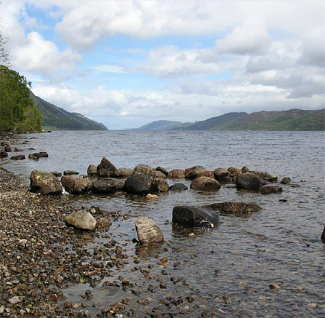 View of Loch Ness from the shore