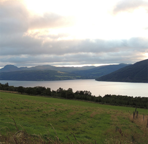 View over Loch Ness Scotland